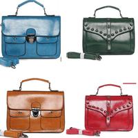 2 Sides Skull Handbag Rivet Messenger Bag Fashion Handbags Vintage Stud Bags Purses Free Shipping