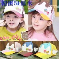 Child baseball cap mesh cap princess child hat baseball cap of ice cream cap