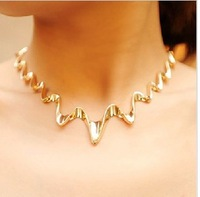 Japan and South Korea explosion models Europe and America style classic ECG   necklace collarbone chain N102