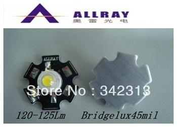 20pcs/Lot 1w/3W high power led with heatsink Aluminum Plate high lumen 120-125Lm