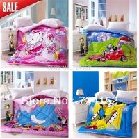 100%cotton Free shipping Cute princess/children/baby/kid Cartoon duck and minnie Quilt bedding 1.5*2M  Spring&autumn&Winter VP33