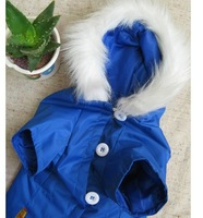 Free Shipping New 2013 4Size Blue Color  Pet Dog Warm Clothes For Pet Dog Accessories