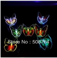Wholesale Price! Novelty Cartoon Butterfly Night Light /7-Color Changing LED Lamp Decor 20pcs/lot