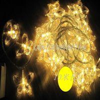 Led lights flasher butterfly lantern christmas decoration waterproof lamp lighting string