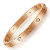 Gold plated bracelet eternity silver bracelet lovers bracelet 18k rose gold female hand ring