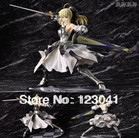 High quality Japanese Anime 9inch High quality Fate Saber Lily Armor Version PVC Figure Toy