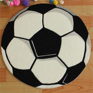 Free shipping Football carpet bedroom floor mats computer chair mat circle carpet 60 60cm doormat