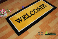 Free shipping Polyacrylonitrile fiber thickening handmade carpet door mat fashion brief carpet entrance 50 100