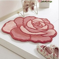 Free shipping Color thickening handmade rose computer cushion bedroom carpet.bath mat, any size. 3.5KG/M2