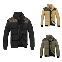 HOT quality! Men winter jacket , wool Cotton-padded clothes,men outerwear jacket ,winter coat for men,3 colors,SIZE M-3XL