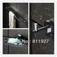 brass hanger for clothes hook  wall soap basket holders for toilet paper towel holder bathroom accessories 4 pcs set