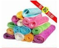 60 pcs / lot Cleaning Cloth Kitchen Non-stick Oil Bamboo Fibre Towel Dish Washing Cloth,Cooking Cloth,Cleaning Rags,16*18cm