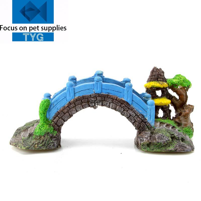 Arch aquarium promotion online shopping for promotional for Aquarium bridge decoration