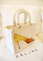Vintage white crystal shoes bags handbag bags bag messenger bag