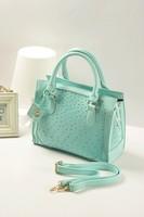 Quadripartite ostrich grain fashion bag shoulder bag vintage handbag bag messenger bag