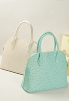2013 ostrich grain shell bag brief OL outfit elegant ladies handbag