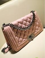 2013 women's handbag normic small fashion vintage chain bag plaid one shoulder bags