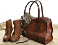 First layer of cowhide quality hot-selling fashion genuine leather handbag women's vintage bag