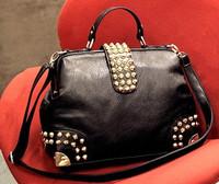 Heavy metal personality rivet vintage tapered type bag fashion punk handbag messenger bag