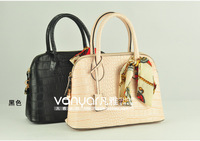 Crocodile pattern handbag women's 2013 spring fashion vintage bags handbag silk scarf