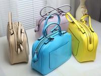 2013 women's handbag brief all-match lemon yellow beige picture package shoulder bag candy color bags