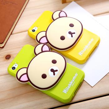 Free shipping 3D TPU Easily bear for apple iphone5 5 5g bear phone case mobile shell silica gel cartoon set