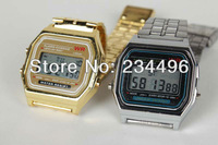 2013 New Fashion A159w-n1 metal table gold silver , lantern f-91w ultra-thin electronic watches 159 watch