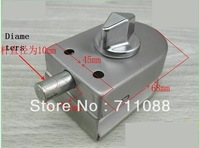 2013 LT  factory direct sell Free shipping Single swing glass door lock round single door latch lock,without key