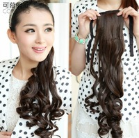 23'', 4 colors, wavy curl Ponytails, Synthetic ponytail, Hair Extensions Wigs ,20pcs/lot, SP-069