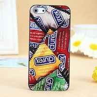 New Arrival For Iphone 4 /4S / Iphone 5 Durex Design Hard Case Cover,Durex Condoms Mobile Phone Protector For Iphone5 Iphone4