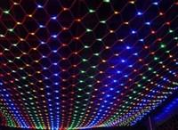Led net lights led lights flasher lamp set fishing net lamp holiday lighting string christmas curtain lights