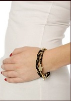Free shipping more than $15+gift fashion angel knitted multi-layer bracelet Women black beads gold chain line star jewelry nice