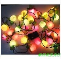 Christmas decoration lights christmas tree decoration lamp plastic fruit style lighting string 30 multicolour lights