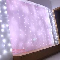 Led waterproof lantern flasher lighting string christmas wedding decoration white 3 1.7 meters curtain lights