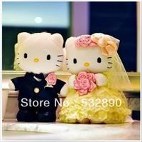 2pcs/lot hELLO Kitty HT Cat stuffed toys legal copy 30cm  Wedding birthday gift 2013 pp wedding gifts PlushToy