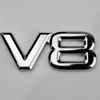 Car StickerRefires 3d stereo car stickers emblem car sticker v8 big displacement modified