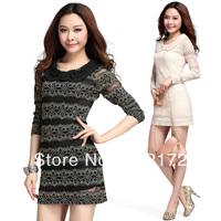 Sexy slim Lace Crochet  women dress 8042