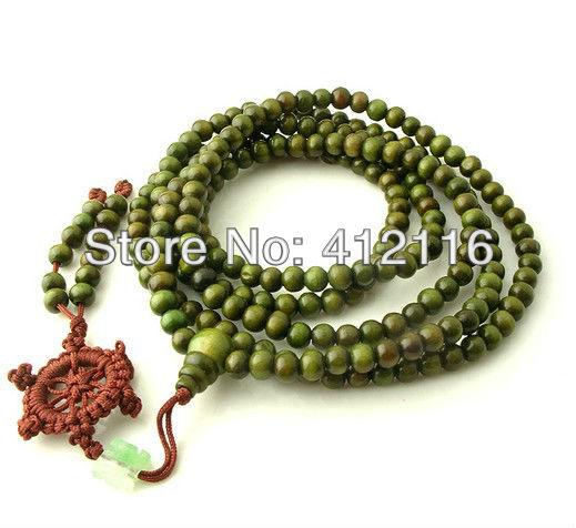 Atacado grátis frete 2013 6 mm x 216 pcs 5 raw Hot Sale verde e vermelho sândalo budista tibetano oração Mala pulseiras jóias(China (Mainland))