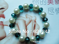 Free Shipping Novelty Items Jewelryt Hand-Made Stretch Bracelets Crytal Pearl Bracelets Bangle 12pcs/lot Wholesale  LGZ000