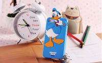 3D Cartoon Duck,Mickey,Winnie,Piglet.Chip Silicone Soft Phone Cover Case For Iphone 5 Case For Kids