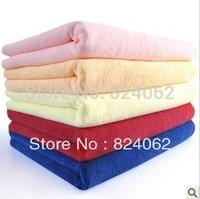 "70*140cm(28""x55"") 100pcs/lot towels bulk Price Absorbent Streak-free Lint-free Scratch-free Microfiber Bath Cloth Towel"