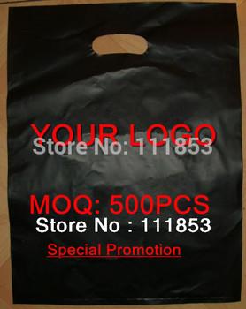 Free shipping! MOQ 500pcs Customized punching bag, shopping bag,plastic bag with logo,for promotion!