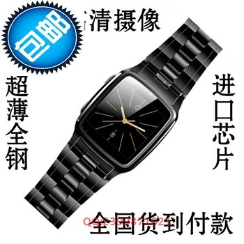 2013 steel intelligent ultra-thin waterproof mini watch mobile phone watch hd commercial