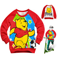 Retail girls boys cartoon bear T-shirts cotton long sleeves shirt kids sweaters t-shirt fashion tops children spring/autumn