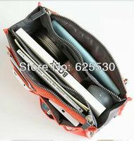 Free shipping! BEST quality! mp3 phone cosmetic storage organizer 100% nylon bag in bag handbag
