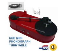 DROPSHIPPING !!  HOT SALE!!Vinyl LP Record Player USB turntable player, Turntable to MP3 converter player -Free shipping