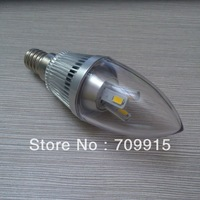 Factory direct sale Free shipping 5W E14 12V LED NO-dimmable Candle Light lamp WITH silver cover