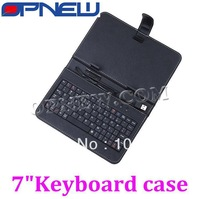 fashional 7 inch keyboard case for android tablet pc with usb/mini usb/micro usb keyboard bracket stylus pen