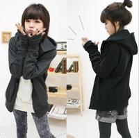 2013 Spring And Autumn Female Outerwear,Women's  cardigan simple sweatshirt, female plus size sportswear