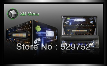 "Free shipping High Resolution Touch Screen  Stereo Andriod 4.0 system universal 1 din 7"" car dvd"